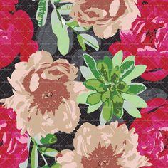 Peonies #textiledesign @patternbank #textile #textiles #fashion #womenswear #floral #florals #flowers #active #activewear #swimwear #patternbank patternbank.com/omlabel