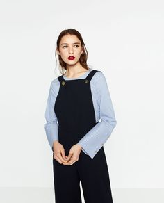 ZARA - WOMAN - CULOTTE-STYLE DUNGAREES