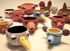 Animal pinch pots - Carrianne Hendrickson