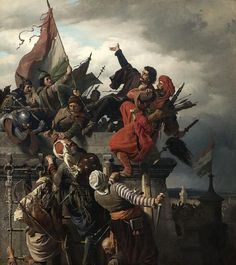 The Siege of Belgrade (or Battle of Belgrade, or Siege of Nándorfehérvár) occurred from July 4 to July After the fall of Constantinople in the Ottoman sultan Mehmed II was rallying his resources in order to subjugate Military Art, Military History, Hungary History, Fall Of Constantinople, Google Art Project, Historical Art, Ottoman Empire, Rembrandt, Art Google