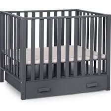 Playpen Convertible Cot with Wheel Childhome Finish: Dark Grey Nursery Furniture Sets, Baby Furniture, Sleigh Cot Bed, Toddler Bed Mattress, Travel Cot, Drawer Design, Cot Bedding, Mattress Springs