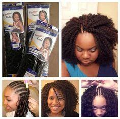 Braids ¤ Twist ( Natural Hair & Protective Styles ) - Crochet Braids latch hook