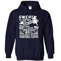 SUCK IT UP BUTTERCUP, REAL GIRLS BECOME BASKETBALL PLAYERS . - #mens shirts #mens sweatshirts. GET YOURS => https://www.sunfrog.com/Sports/REAL-GIRLS-BECOME-BASKETBALL-PLAYERS--NavyBlue-29225491-Hoodie.html?id=60505