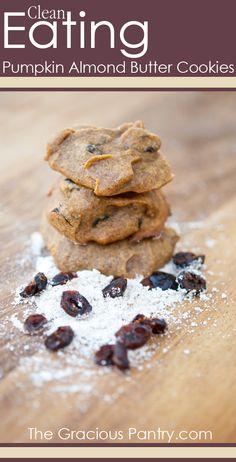 Ad: Clean Eating Pumpkin Almond Butter Cookies.