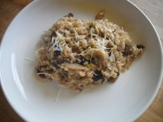 Risotto With Mushrooms, Olives, And Leeks. I make this often in my pressure cooker. It tastes like I spent hours on it when it is actually made in about 10 minutes.