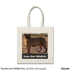 Tau Save Our Wildlife Tote Bag