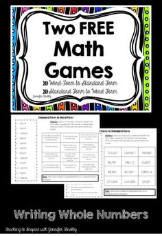 4th Grade Common Core Math Games {Free} - Teaching to Inspire with Jennifer Findley