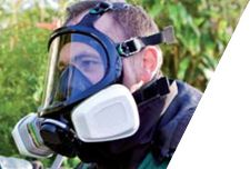Máscara de seguridad para gases y vapores