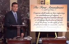 """Senator Ted Cruz issued an epic challenge and debate to the 49 Democrats in the U.S. Senate who have voted to gut the American free-speech provision of the First Amendment of the U.S. Constitution.The Democrat-proposed S.J. Res. 19, would change the First Amendment, giving politicians the ability to determine whatever they feel are """"reasonable"""" limits…"""