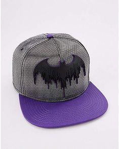 484fcb56d83 Batman Grey and Purple Snapback Hat - DC Comics - Spencer s. Purple And  Black · Snapback Hats ...