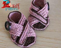 Tricot chaussons bébé perles petit modèle par loasidellamaglia