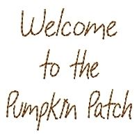 Welcome To The Pumpkin Patch - 4x4 | Fall | Machine Embroidery Designs | SWAKembroidery.com HeartStrings Embroidery