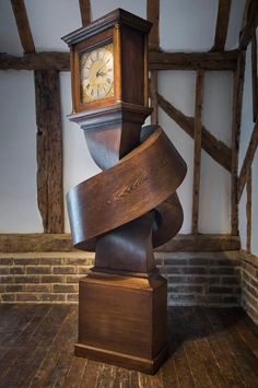 Howland Owlle Family When quantum theory meets Grandfather Time. Originally shared by Steampunk Tendencies Alex Chinneck Transforms An Antique Grandfather Clock Into A Flexible Sculpture Steampunk Tendencies