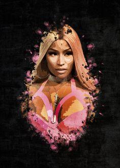"""Beautiful """"Nicki Minaj """" metal poster created by JP Voodoo. Our Displate metal prints will make your walls awesome. Drake Nicki Minaj, Nicki Minja, Nicki Minaj Barbie, Cool Vintage, Vintage Stil, Kit Harrington, Nicki Minaj Album Cover, Nicki Minaj Poster, Cute Lockscreens"""