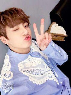 Jeon Jungkook || Kookie in light blue is beautiful
