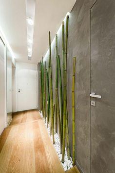 bambusstangen flur dekorieren bambus deko