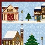 Holiday Snow Village Closeup 3
