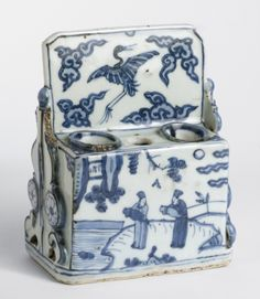 "Brush and Ink Stick Stand, ca 16th-17th century-Ming Dynasty, China. Artist Unknown.  Philadelphia Museum of Art - Collections Object  *Interesting Fact: The side shown in the picture depicts two scholars.  During this time period only those who were literate would use this to write. Citation:  ""Philadelphia Museum of Art."" Digital image. Philadelphia Museum of Art- Brush and Ink Stick Stand. Accessed March 01, 2014…"