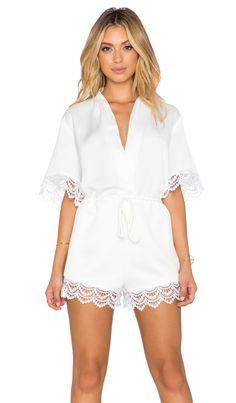Style Stalker Charline Romper in White