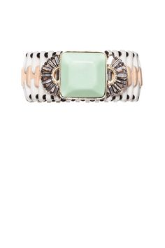 Marni Bracelet with Large Mint Square Crystal