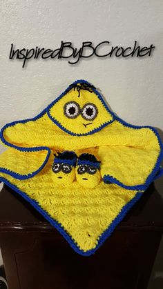 C2C Minion Blanket Hooded Blanket Minion by InspiredByBCrochet