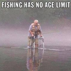 Fishing has no age limit... ageless beauty and inspiration