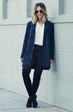 """The """"Cardiff"""" plaid wool coat from Emily Schuman of Cupcakes and Cashmere is so great! Available at Nordstrom."""
