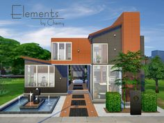 The Sims Resource: Elements residential home by Chemy • Sims 4 Downloads