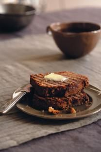 """Sophie Dahl's Banana Bread recipe. """"I used to make banana bread in the fierce winters when I lived in New York and it was too freezing to do anything but bake. Eat it warm out of the oven with a lick of butter – it's unadulterated manna""""."""