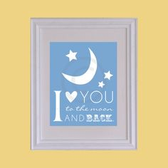 Nursery / Kids Room Art Print  Style I love you to by PaperRamma, $20.00