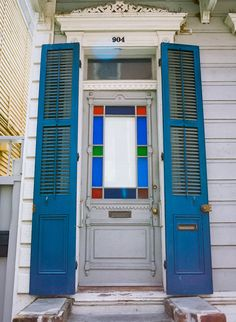 New Orleans French Quarter Stained Glass Door Stained Glass Door, New Orleans French Quarter, Home Remodeling, Interior And Exterior, Doors, Building, House Ideas, Interiors, Etsy