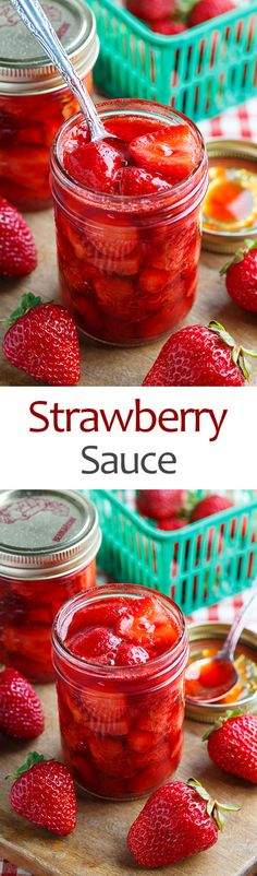 Sauce Strawberry Sauce Replace sugar with Stevia and it's perfect!Strawberry Sauce Replace sugar with Stevia and it's perfect! Fruit Recipes, Sauce Recipes, Dessert Recipes, Strawberry Sauce, Strawberry Desserts, Food Storage, Salsa Dulce, Jam And Jelly, Dessert Sauces