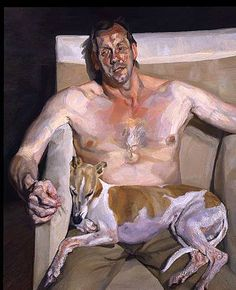 Lucian Freud is a featured artist in the The Figurative Aritsts' Handbook by Rob Zeller and Monacelli Press. Lucian Freud was a British painter and draftsman, and the grandson of Sigmund Freud. His works are noted for their. Lucian Freud Portraits, Lucian Freud Paintings, Dog Portraits, Figure Painting, Painting & Drawing, Blog Art, Figurative Kunst, Kunst Online, Robert Rauschenberg