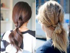 15. Knotted Ponytail - 25 Super-Easy Hairstyles Only Girls with Long Hair Will Appreciate ... → Hair