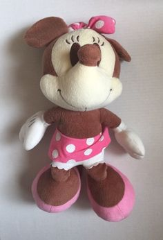 "Disney Sega Flavor of the Month Minnie Mouse Chocolate Plush 17"" Tall Series 1 #Disney #Tie"