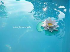 Cómo hacer nenúfares para la decoración de la piscina con goma EVA