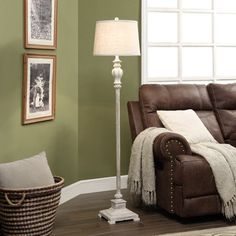 Ollerton 62.5-inch Tapered Drum Floor Lamp, Brown