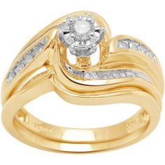 1/3 Carat T.W. Diamond 10kt Yellow Gold Bridal Set Review Buy Now