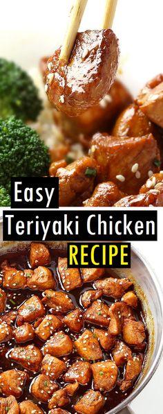 Easy Teriyaki Chicken Recipe – Dessert & Cake Recipes – The Best Chicken Recipes is Here Chicken Terriyaki Recipe, Chicken Teriyaki Recipe Crockpot, Chicken Teriyaki Rezept, Easy Teriyaki Chicken, Healthy Chicken Recipes, Cooking Recipes, Boneless Chicken Recipes Easy, Terriaki Chicken, Comfort Food
