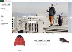 Lacoste homepage - clean design, product focussed #ecommerce #web #design #inspiration