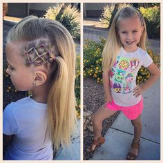 Today we did a fun and easy elastics accent with straight hair! Her hair seems so long when it's not curled! #tinzbobenz #toddlerhairstyle #toddlerhairstyles #princesshair #hairideas #hairinspo #hairstyle #hairstyles #hairforkids #braidingmommies #elasticstyle #shopkins #instakids #instahair #instastyle #kidshair #kidsootd #kidsstyle #kidsfashion #toocute #readyforschool #quickandeasy