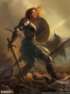 bronze armoured fighter fantasy art - Google Search