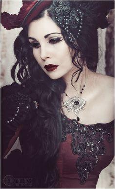Elegance in Darkness — Model & Styling: Mademoiselle Karma...