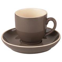 Kop en Schotels Robusta Koffie Grijs 15 cl