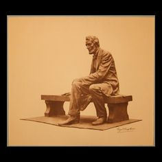 Seated Lincoln statue by Gutzon Borglum Abraham Lincoln Family, Lincoln Financial, Greatest Presidents, Sixth Grade, Artist Gallery, Bronze Sculpture, Sculptures, Painting