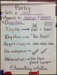 Poetry anchor chart                                                       …
