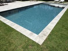 rectangle residential pool with zero degree entry - Yahoo Image Search Results Backyard Pool Landscaping, Backyard Pool Designs, Small Backyard Pools, Swimming Pools Backyard, Swimming Pool Designs, Backyard Paradise, Backyard Retreat, Zero Entry Pool, Pool Landscape Design