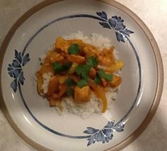 Chicken Curry in a Hurry - This is my new favorite dish! Mea ate two bowls! (Did not add cayenne).