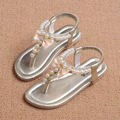 ... casual zapatos de Verano niños de la princesa zapatos de moda banda  elástica de Perlas Arco flip flop Niños zapatos zapatillas sandalias de  boots ribbon ... 1753765f49ce5