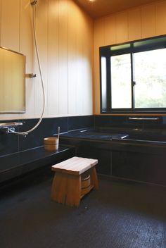 ヒノキを使った浴室